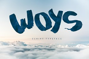 Woys Brush Typeface