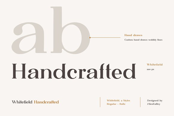 Whitefield - Handcrafted Serif in Serif Fonts - product preview 1