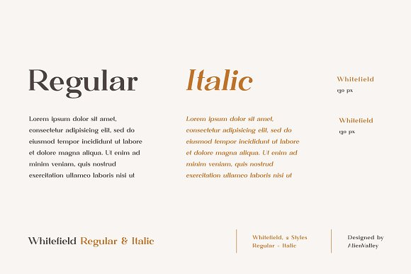 Whitefield - Handcrafted Serif in Serif Fonts - product preview 2