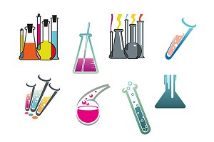 Laboratory and test tubes set