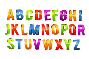 Alphabet 3d text icons creative market thecheapjerseys Choice Image