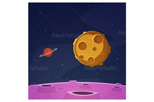 Cartoon Space Background