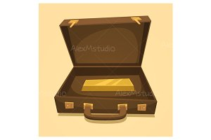 Suitcase with gold bullion