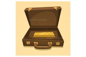 Suitcase with gold bullion