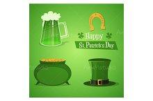 St Patricks Icons Set