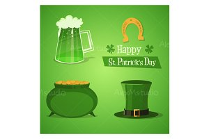 St Patricks Icons Set