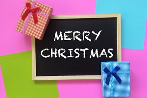 merry christmas on blackboard