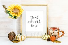 Fall Gold Frame Mockup No.6