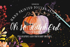 26 Watercolor Thanksgiving Graphics