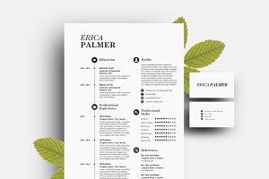 Docx resume pack with business card