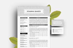 2 pages Word resume pack template