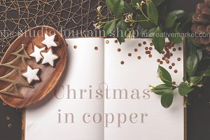 Styled Mockup - Christmas in copper