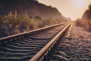 Railroad at sunrise