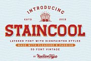 Staincool - Layered Font