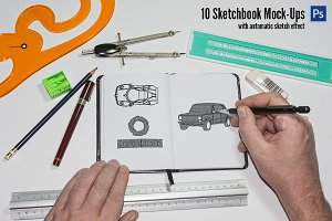 10 Sketchbook Mockup