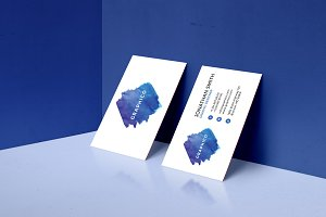 Simple Watercolor Business Card - 42