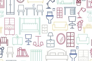 Seamless furniture pattern