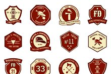 Fire department logo and badges