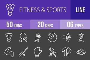 50 Fitness&Sports Line Inverted Icon