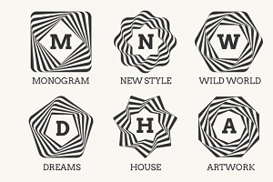 Line art logo design or monogram