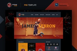 Jordan Club PSD Template