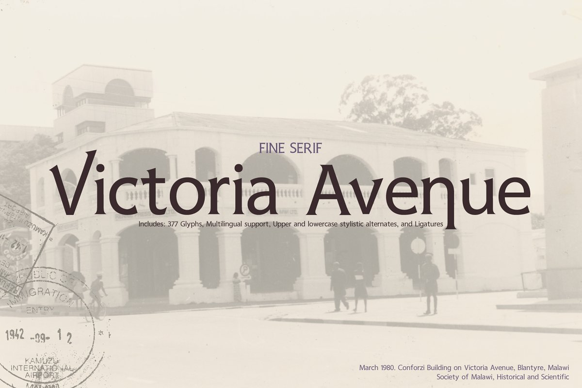 Victoria Avenue & Extras in Serif Fonts - product preview 8