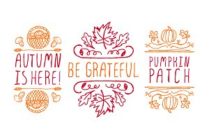Fall season - handdrawn collection