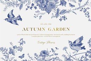 Autumn Garden. B&W