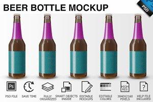 Beer Bottle Mockup 05