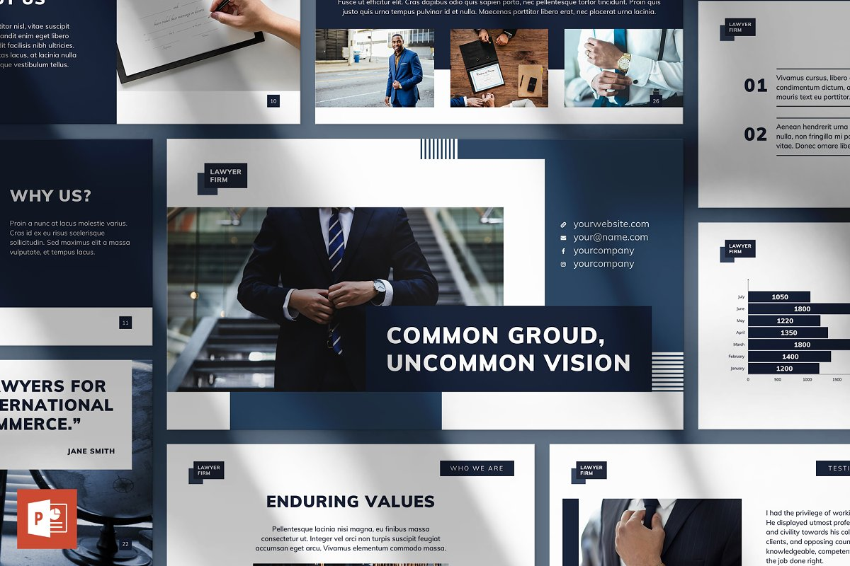 Law Firm Powerpoint Presentation Powerpoint Templates