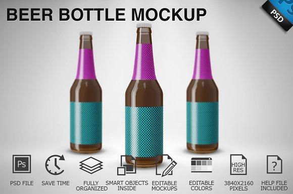 Beer Bottle Mockup 06