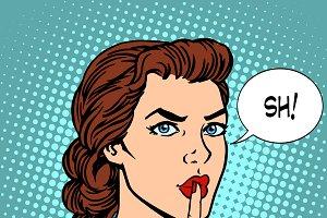 Top secret silence businesswoman