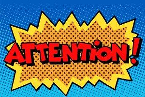attention inscription comic book