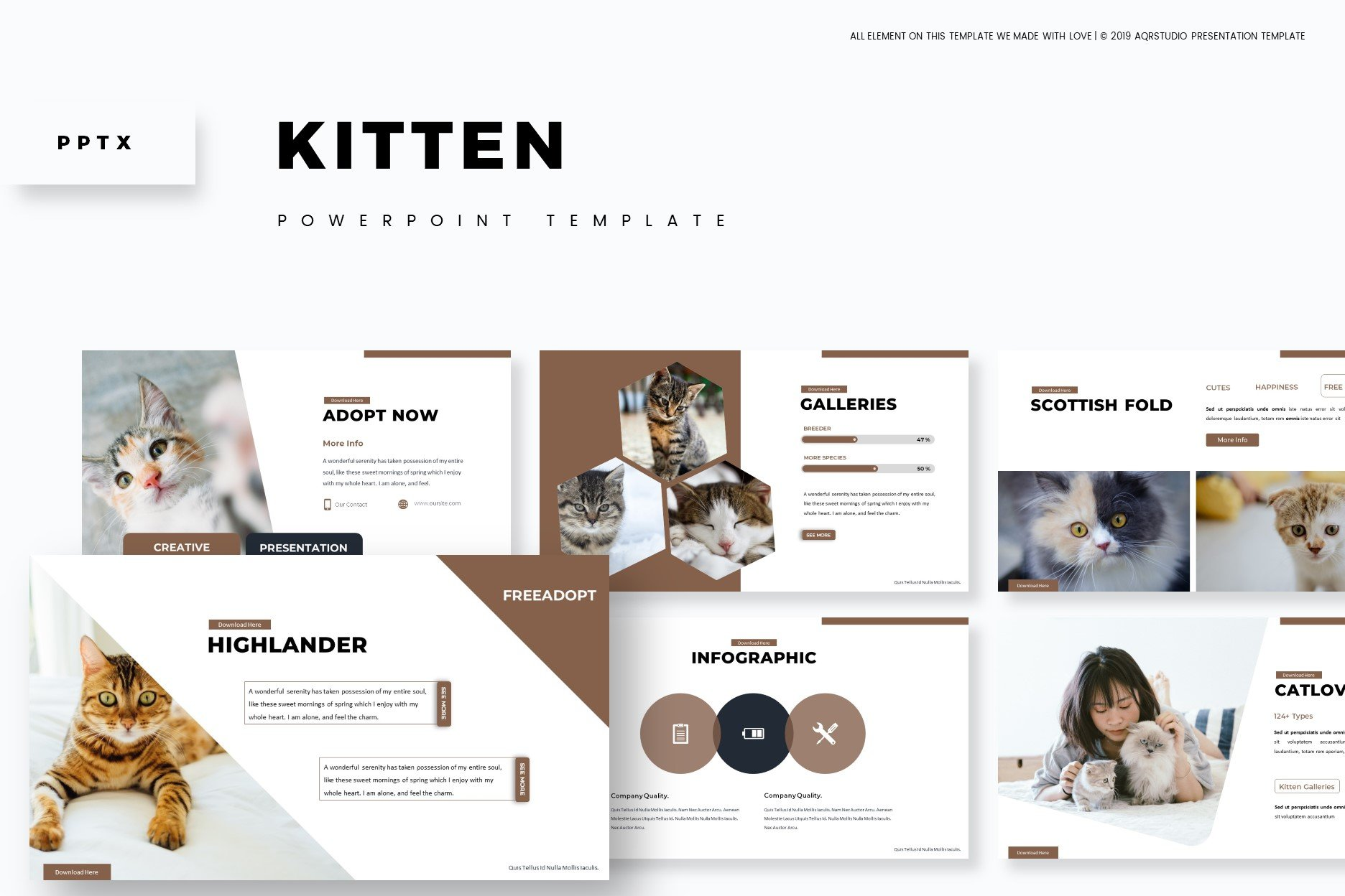 Kitten Powerpoint Template Powerpoint Templates