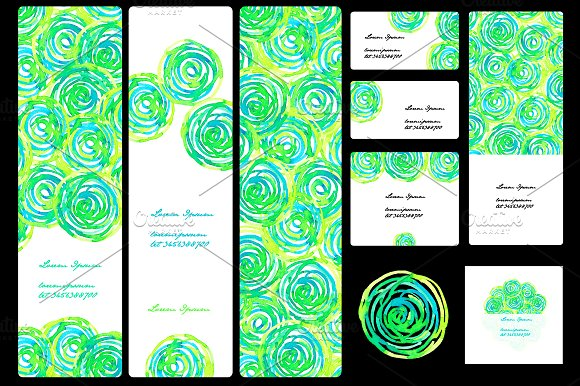 Template flyers. Watercolor. - Flyers