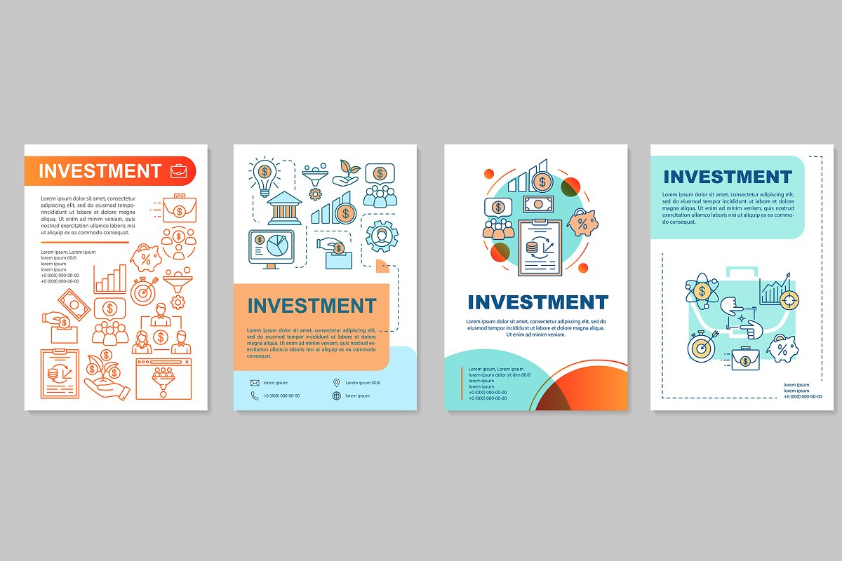 Investment brochure template layout