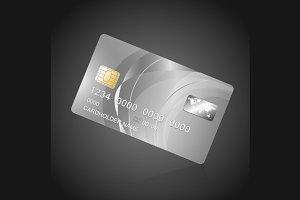 VIP Card Silver on Black. Vector