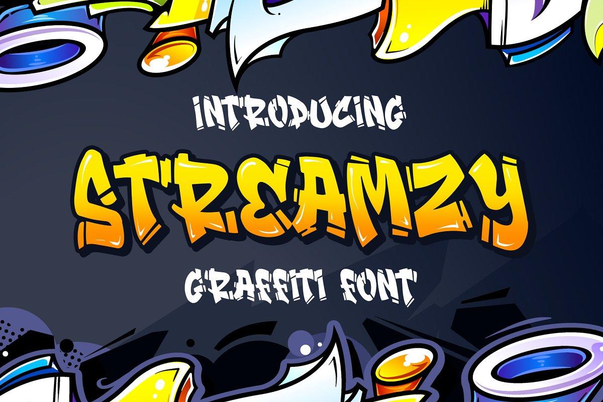 Streamzy Graffiti Font- INTRO SALE