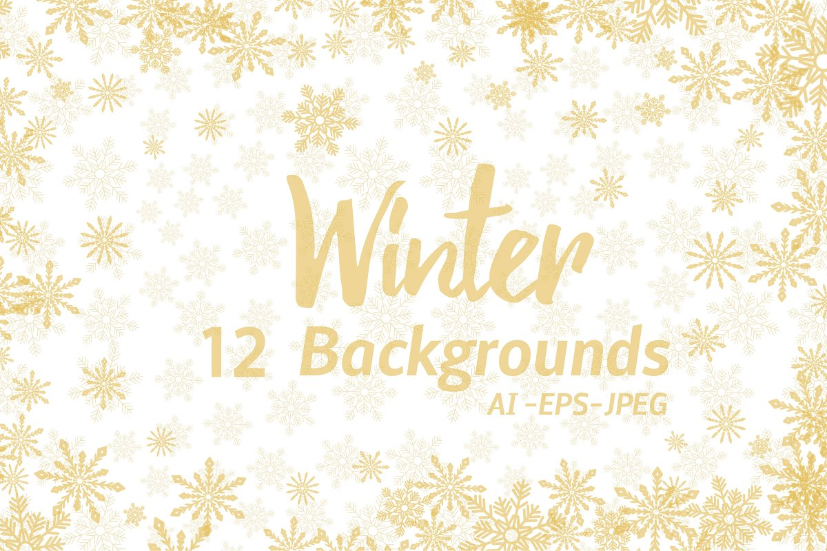 Winter Golden Backgrounds