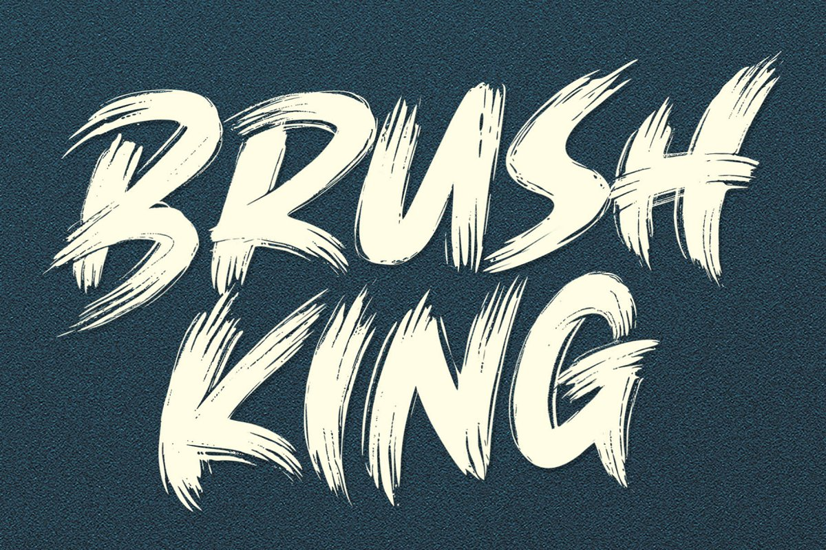 BRUSH KING / Brush Font