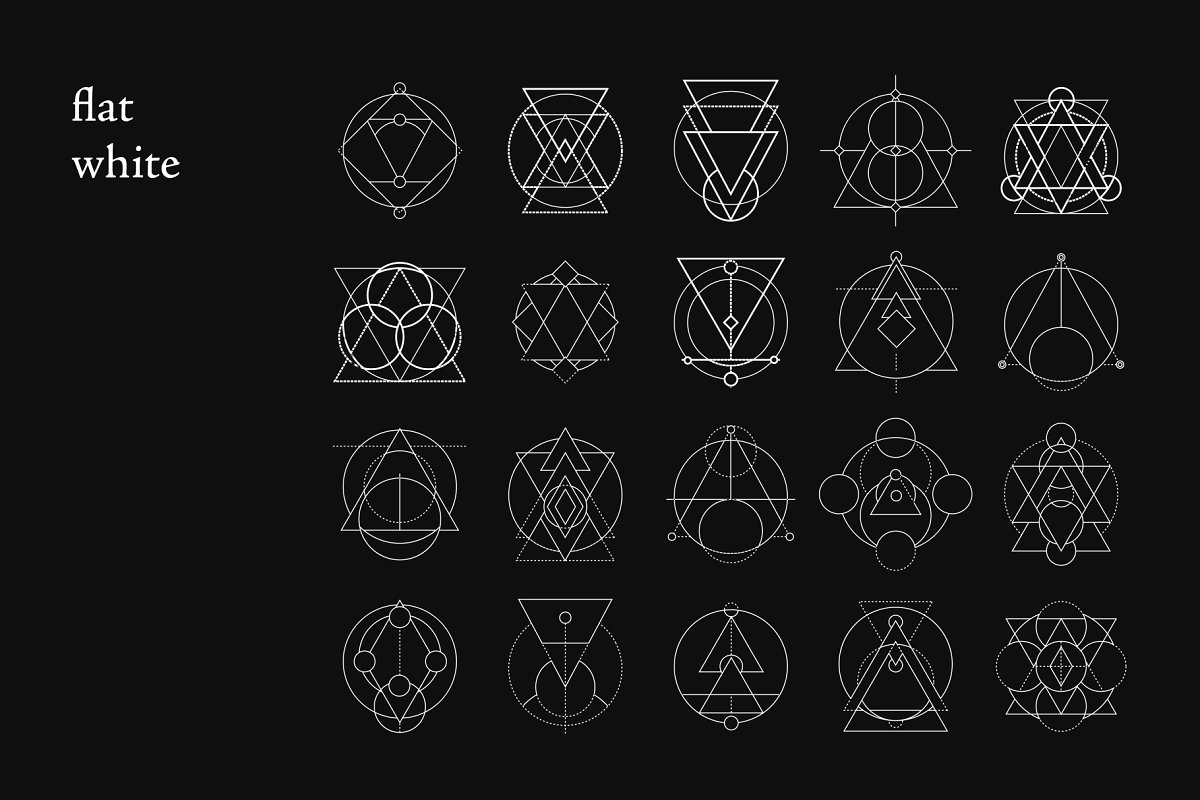 Sacred Geometry Foiled Icon Bundle