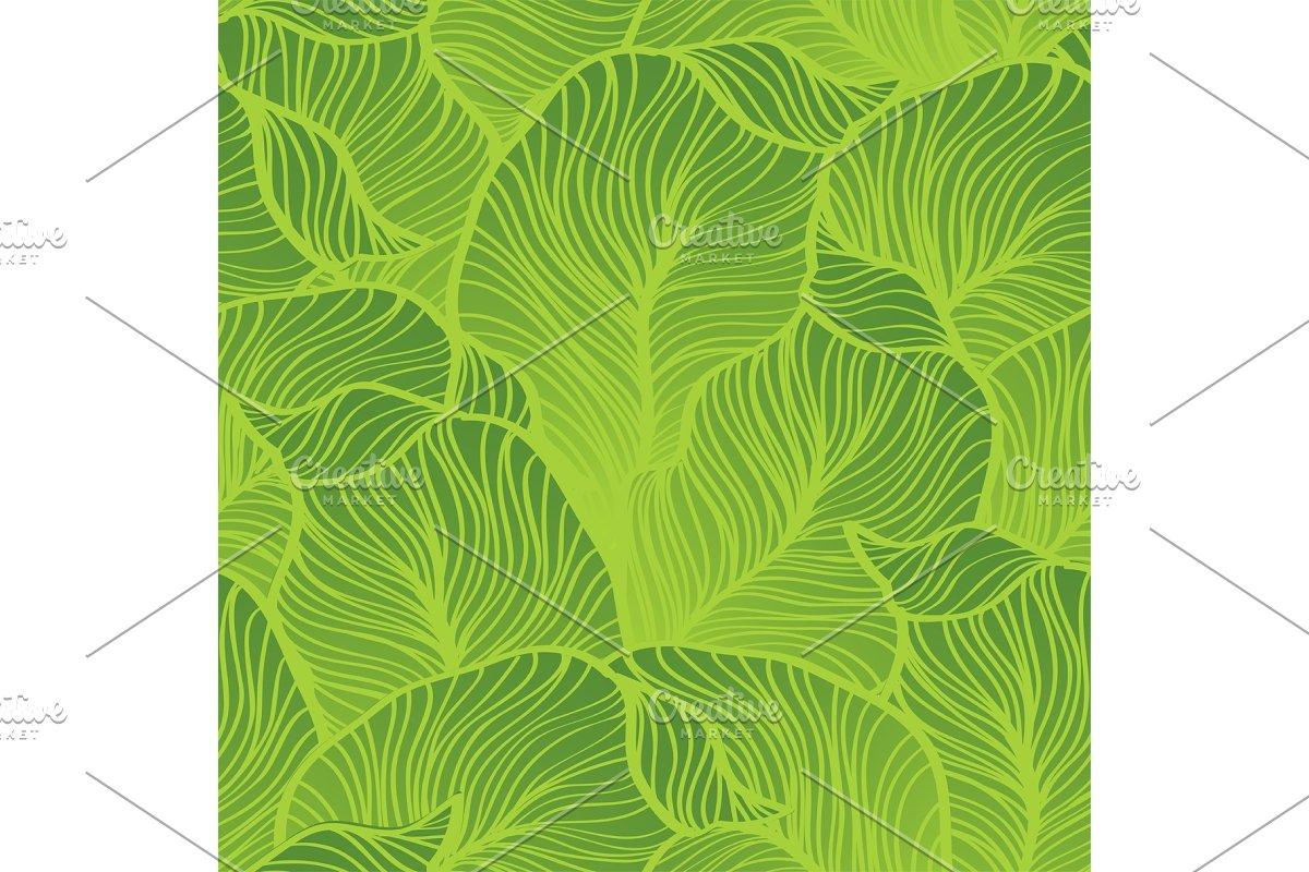 Green leaves pattern. Seamless