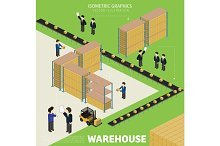 Warehousing process infographics