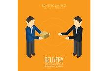 Delivery. Isometric vector illustrat