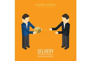 Delivery. Isometric vector illustrat