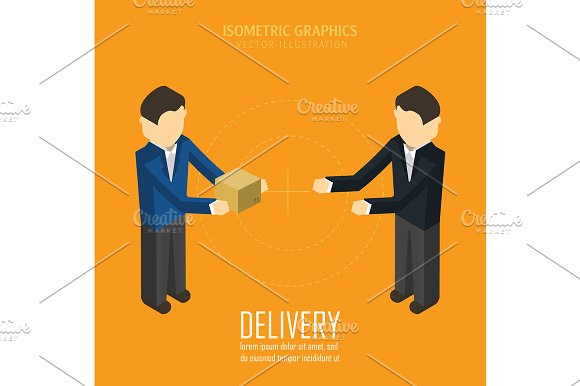 Delivery. Isometric vector illustrat - Illustrations