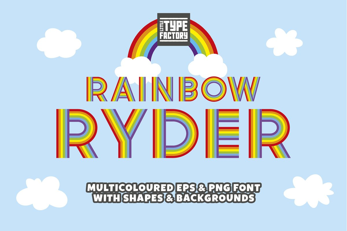 Rainbow Ryder EPS & PNG Font in Display Fonts - product preview 8