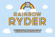 Rainbow Ryder EPS & PNG Font