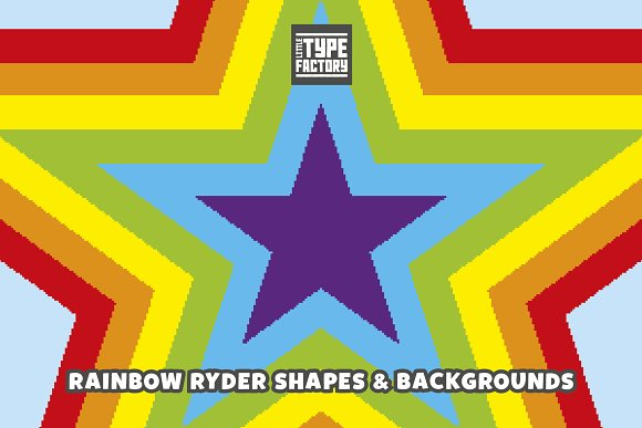 Rainbow Ryder EPS & PNG Font in Display Fonts - product preview 3