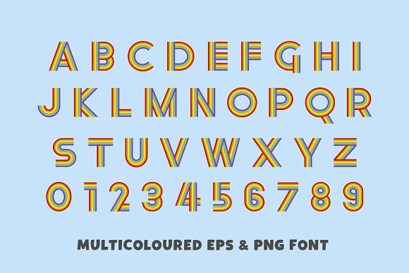Rainbow Ryder EPS & PNG Font in Display Fonts - product preview 4